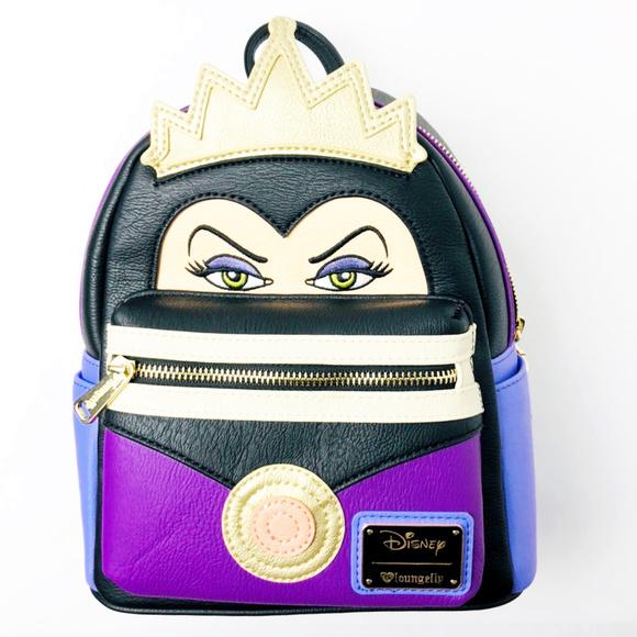 2a0db515de9 Loungefly Disney Snow White Evil Queen Face Vegan